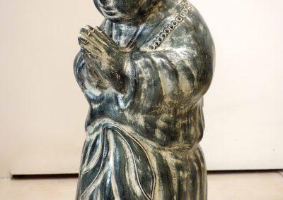 Moine Shaolin debout, Terracota, 60 cm