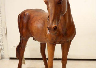 Cheval, bois de Suar, 50 cm de haut