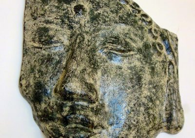 Visage Buddha Siddharta, ciment résineux, 80 cm