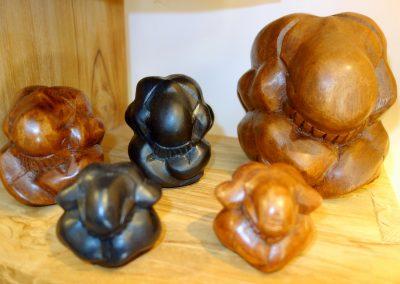 Ensemble Yogis, bois de Suar, 6 - 9 et 18 cm