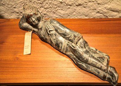 Buddha Siddharta couché, terra-cota, 35 cm