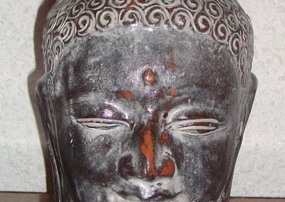 Tête Buddha Siddharta, terra-cota, 35 cm