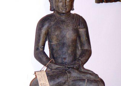Buddha Siddharta, pierre reconstituée, 45 cm