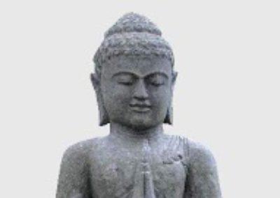 Buddha Siddharta, pierre volcanique, 120 cm