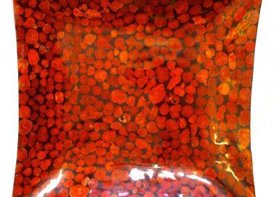 Assiette tranches corail