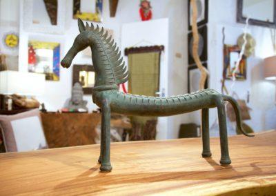 Kuda Tulang, 50 cm de long, bronze à cire perdu