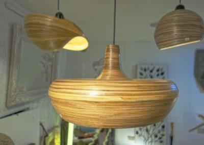 Lampe Mongo, Bambou, existe en 3 tailles