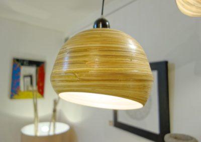 Lampe Bowl, Bambou, existe en 3 tailles
