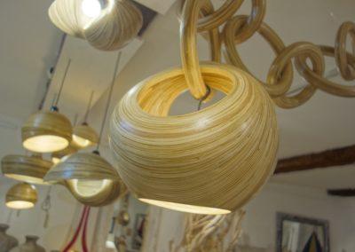 Lampe Corbeille, Bambou, existe en 4 tailles