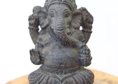 Ganesha, pierre reconstituée, 15 cm