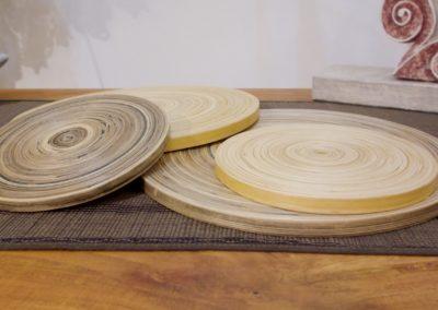 Dessous de Plat, Bambou, diamètre 15 cm ou25 cm