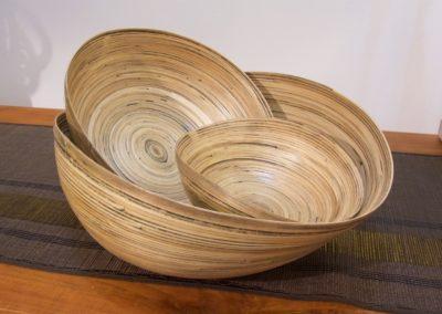 Saladiers Ovales, Bambou, 3 tailles de disponibles