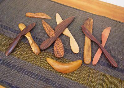 Couteaux à Tartiner, Teck ou Sawo ou Sono ou Palmier