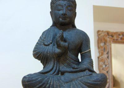 Buddha Siddharta, 45 cm, pierre reconstituée, Java