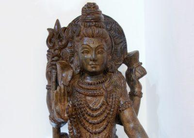 Shiva, 60 cm, pierre reconstituée, Java