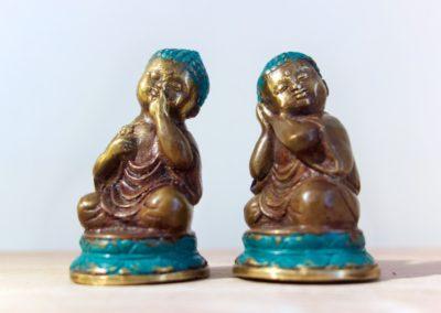 Bébé Buddha, 9 cm, Bronze à cire perdue, Java