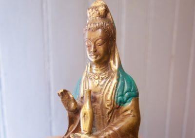 Guanyin, bronze à cire perdu, 10 cm