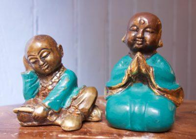 Shaolin Mimpi et Salut, bronze à cire perdue, 9 cm
