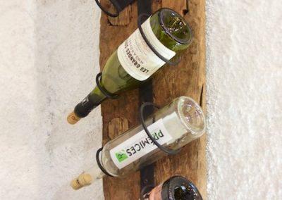 Porte-Bpouteilles, Teck antik et métal, existe pour 4 ou 6 bouteilles