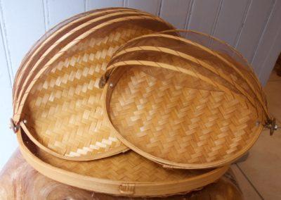 Panières ovales, bambou, 3 tailles différentes