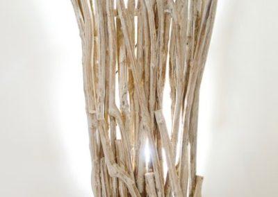 Applique Hira Shima, Bois de caféier, hauteur 132cm Java