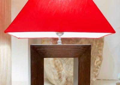 Lampe Pintu carré, cadre teck 25 x 25, Java