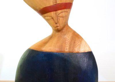 Buste Derviche, bois de Suar, 24 cm, Java