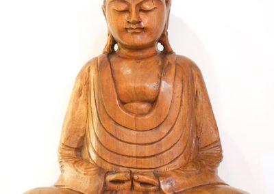 Buddha Siddharta, bois de Suar, 50 cm, Bali